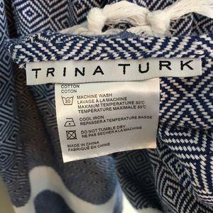 Trina Turk Accessories - Trina Turk Blue Pattern Wrap Around Scarf/Towel